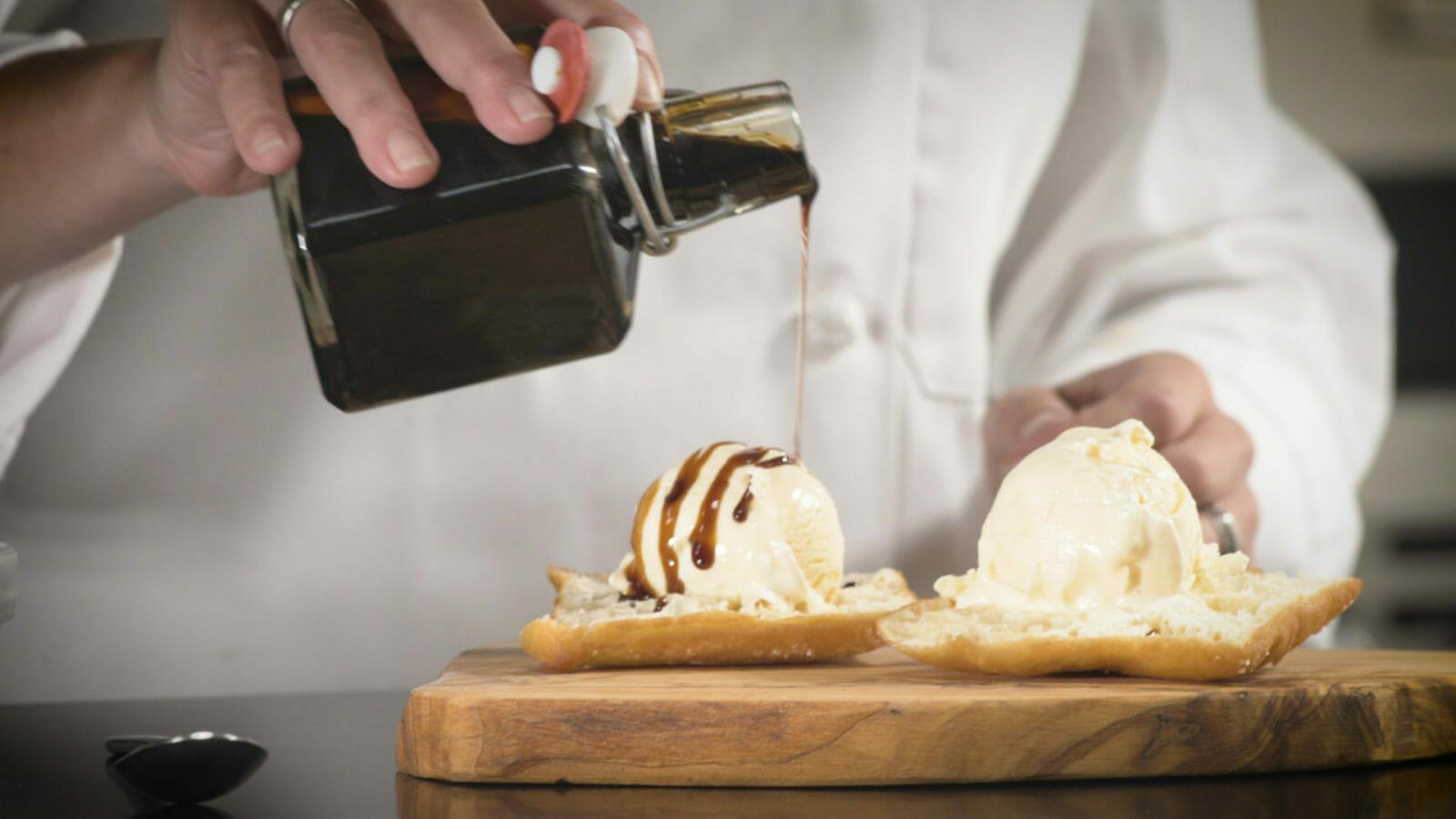 Coffee & Beignet Ice Cream Sundae